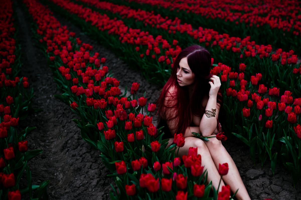 Tulpen Erde Model Shooting