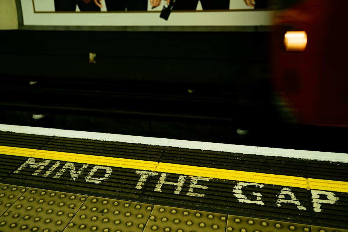 London Landschaft England Mind the Gap