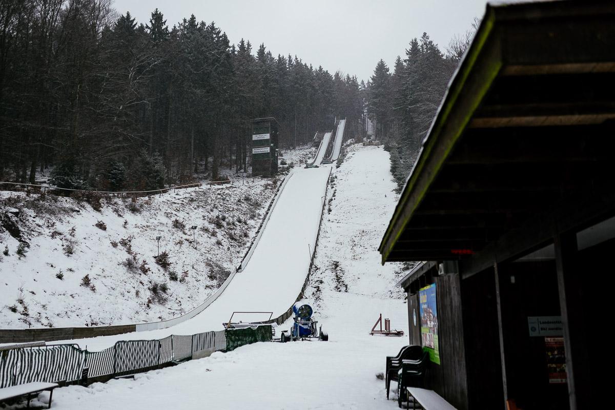 Harz Braunlage Wurmberg Schnee Skianlage