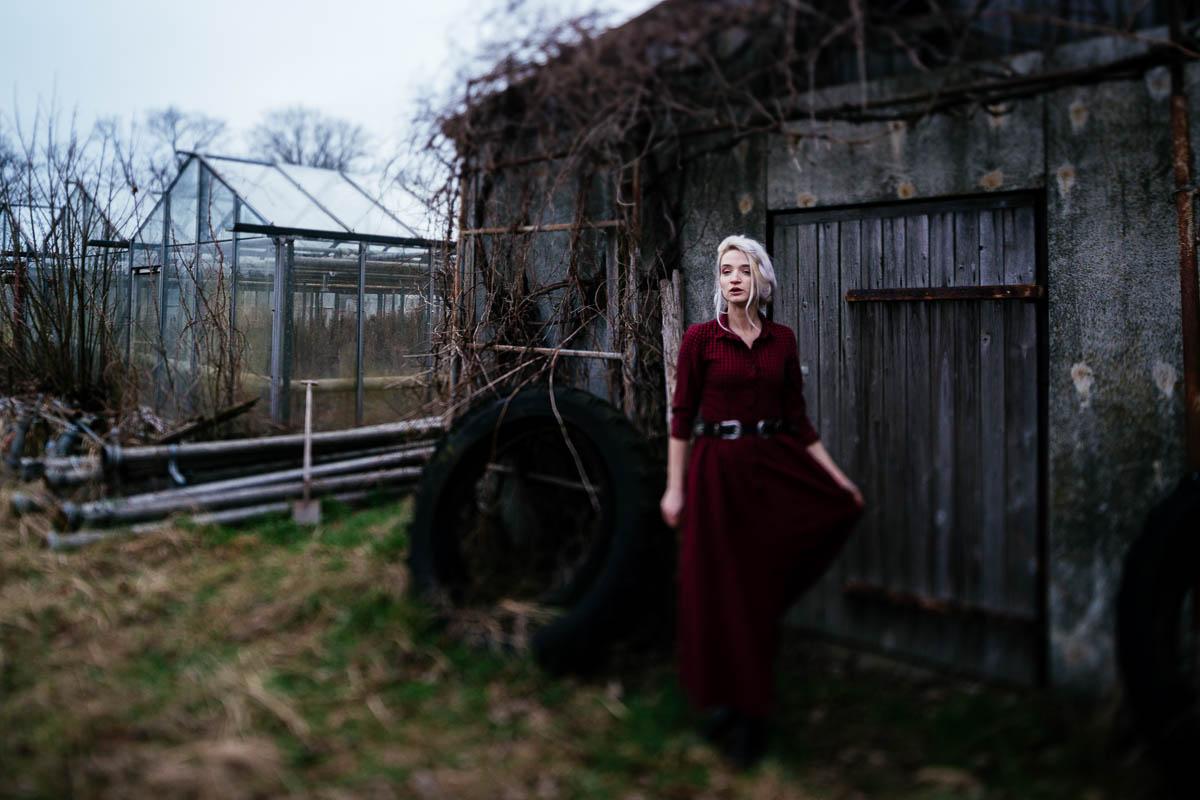 Gewächshaus Kariert Kleid